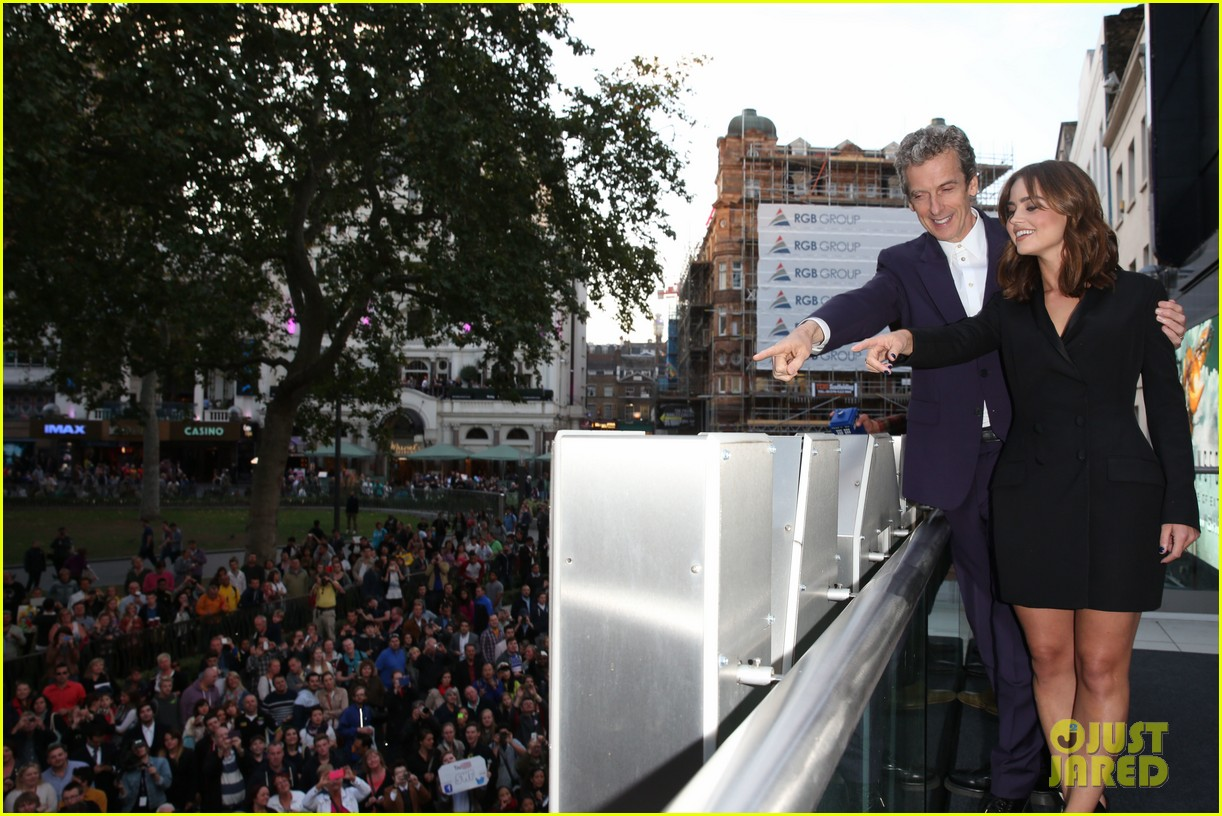 jenna coleman peter capaldi dr who london last premiere 22
