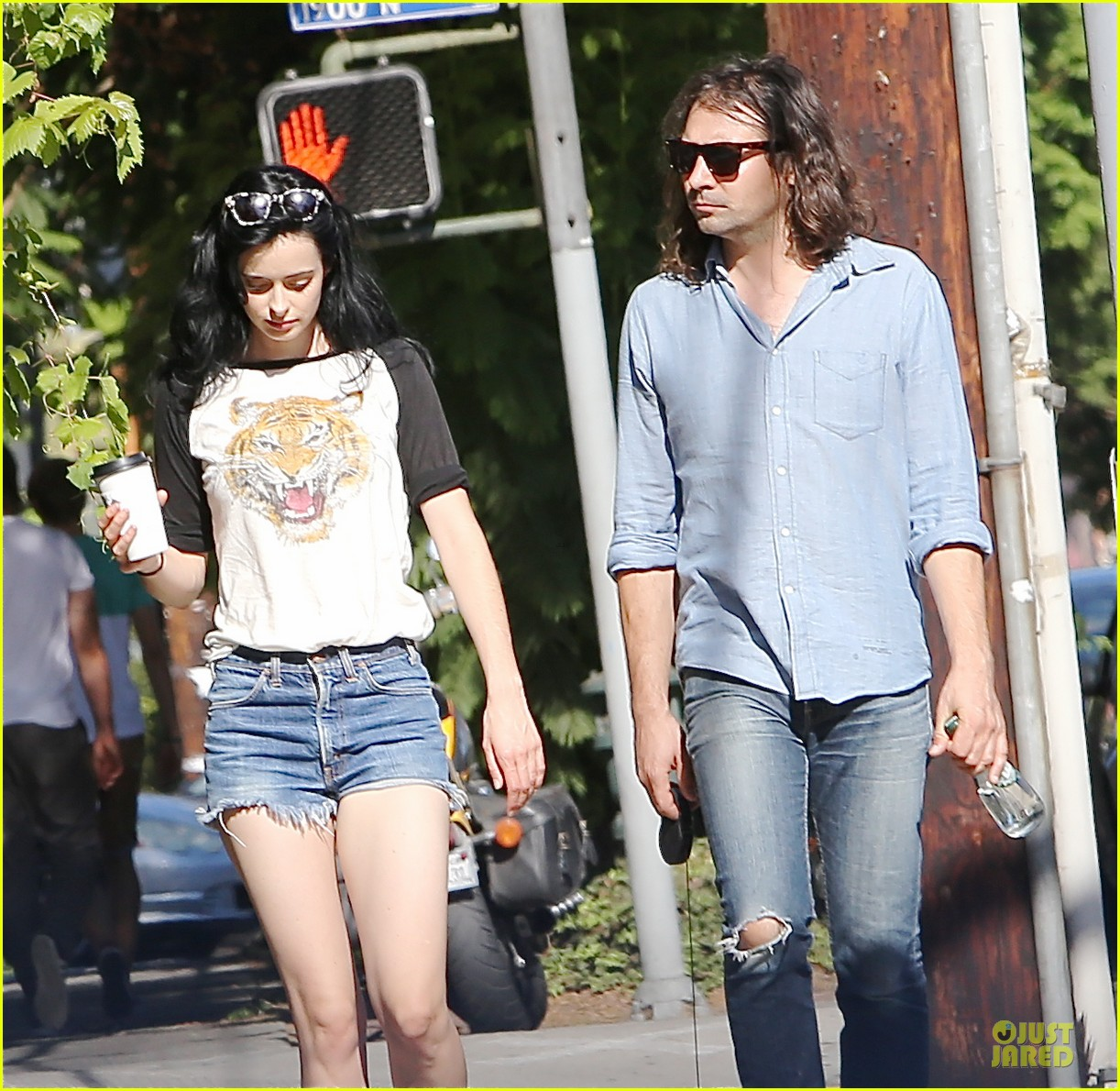 krysten ritter adam granduciel keep distance on stroll 02