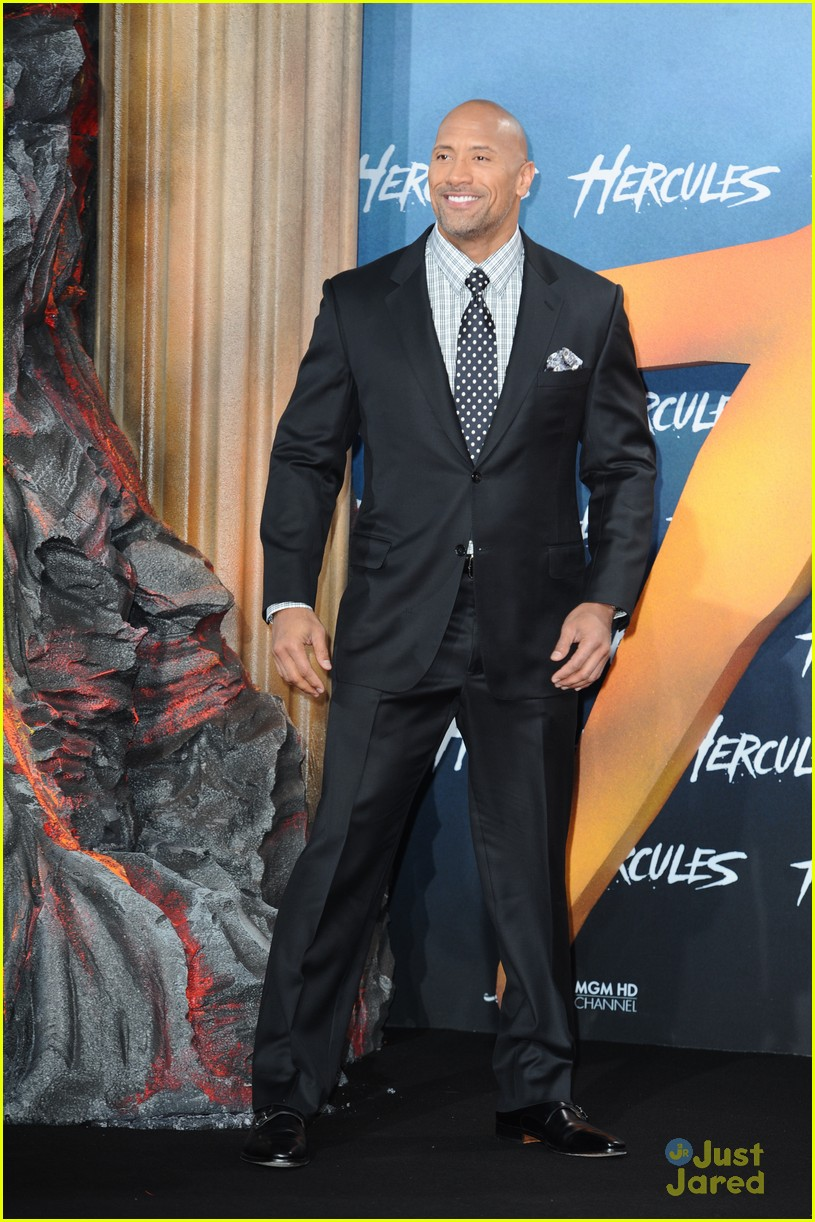 dwayne the rock johnson hercules berlin premiere 10