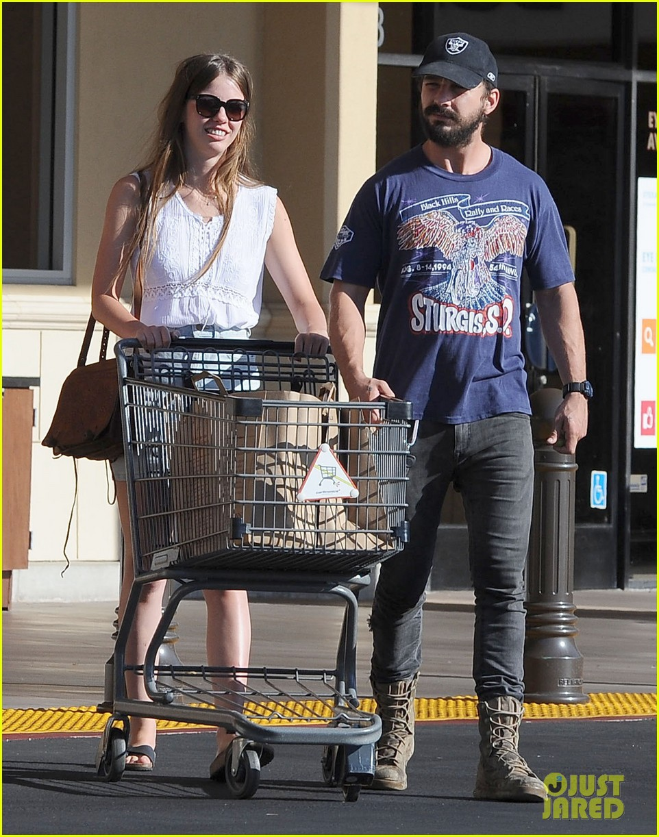 shia labeouf girlfriend mia goth lemonade lunch lovers 123186961