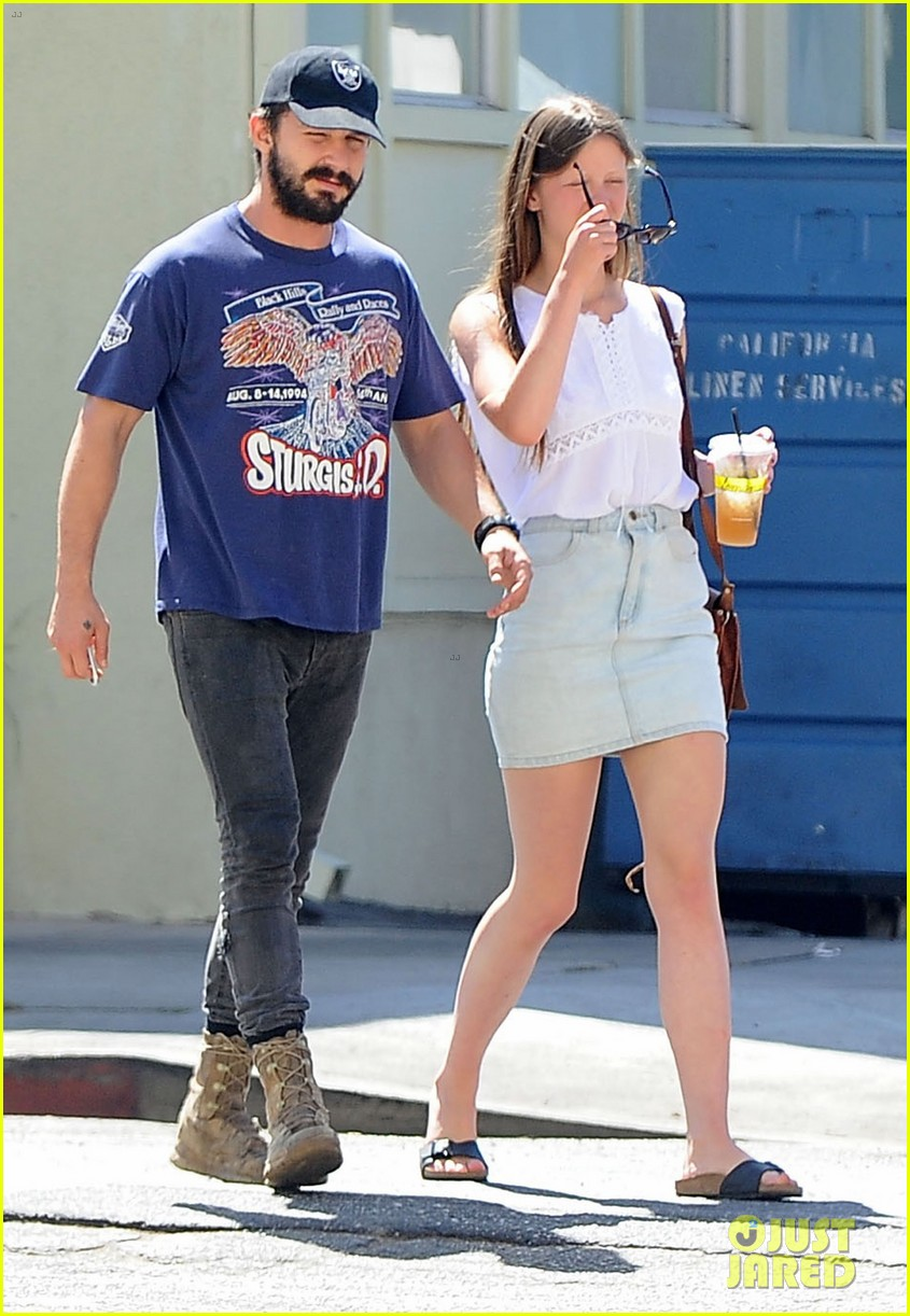 shia labeouf girlfriend mia goth lemonade lunch lovers 163186965