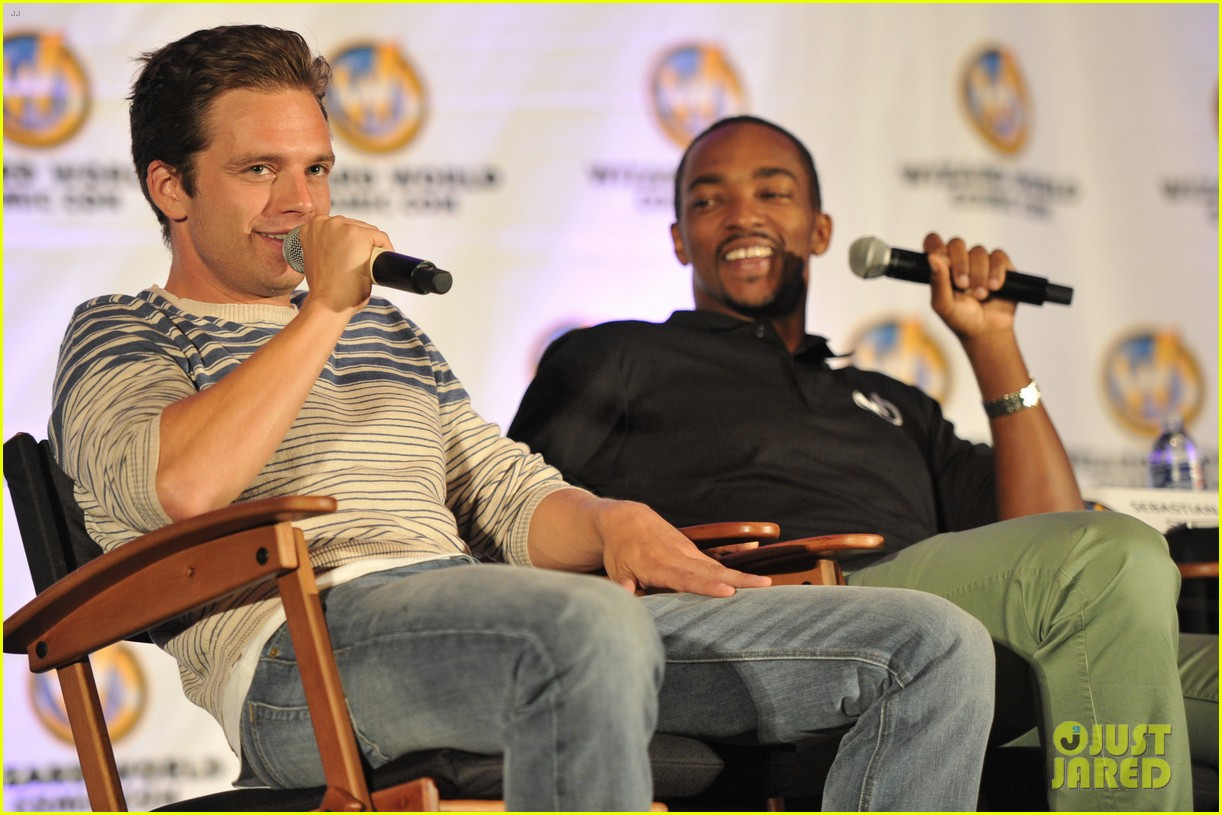 sebastian stan anthony mackie attend wizard world chicago comic con 10