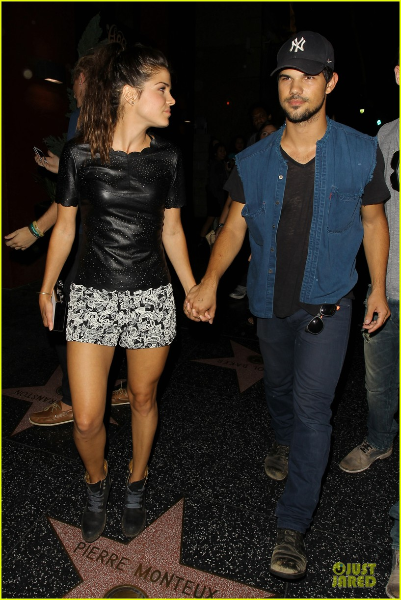 taylor lautner marie avgeropoulos strong hollywood 133181564