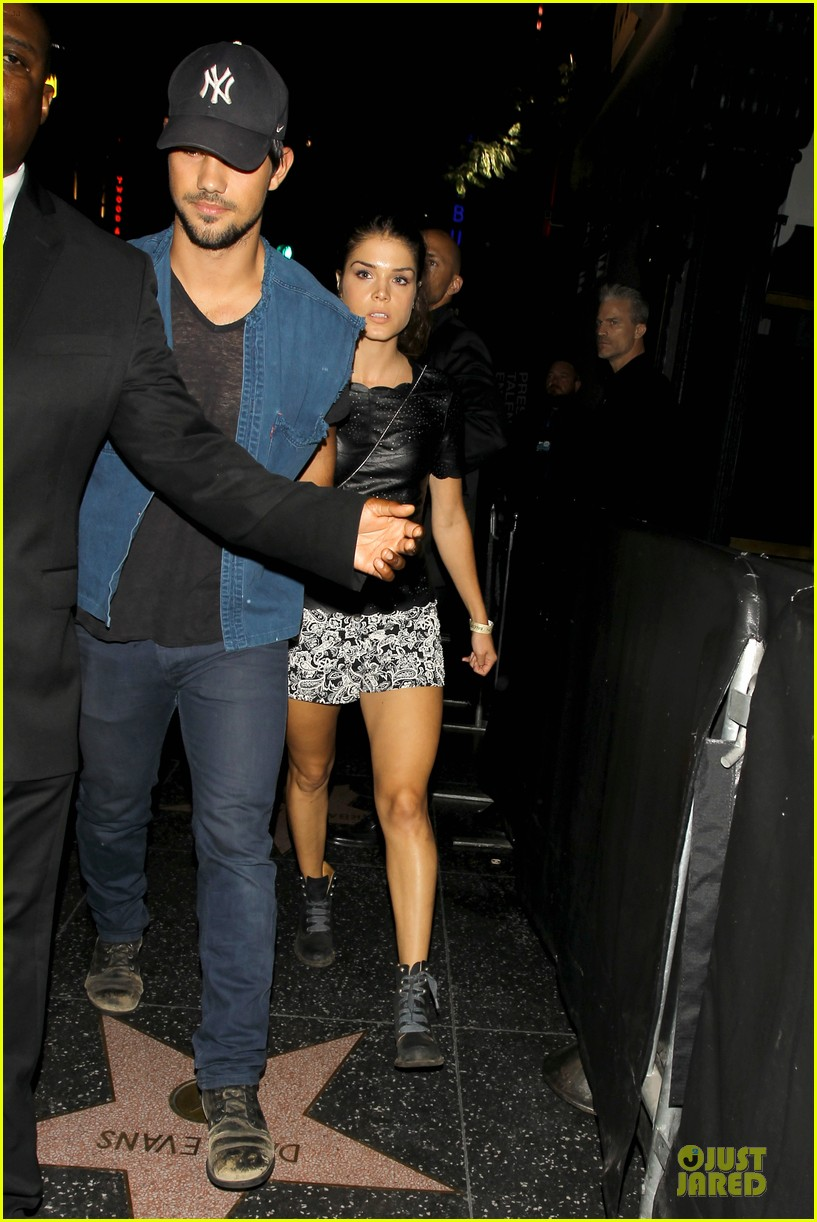 taylor lautner marie avgeropoulos strong hollywood 153181566