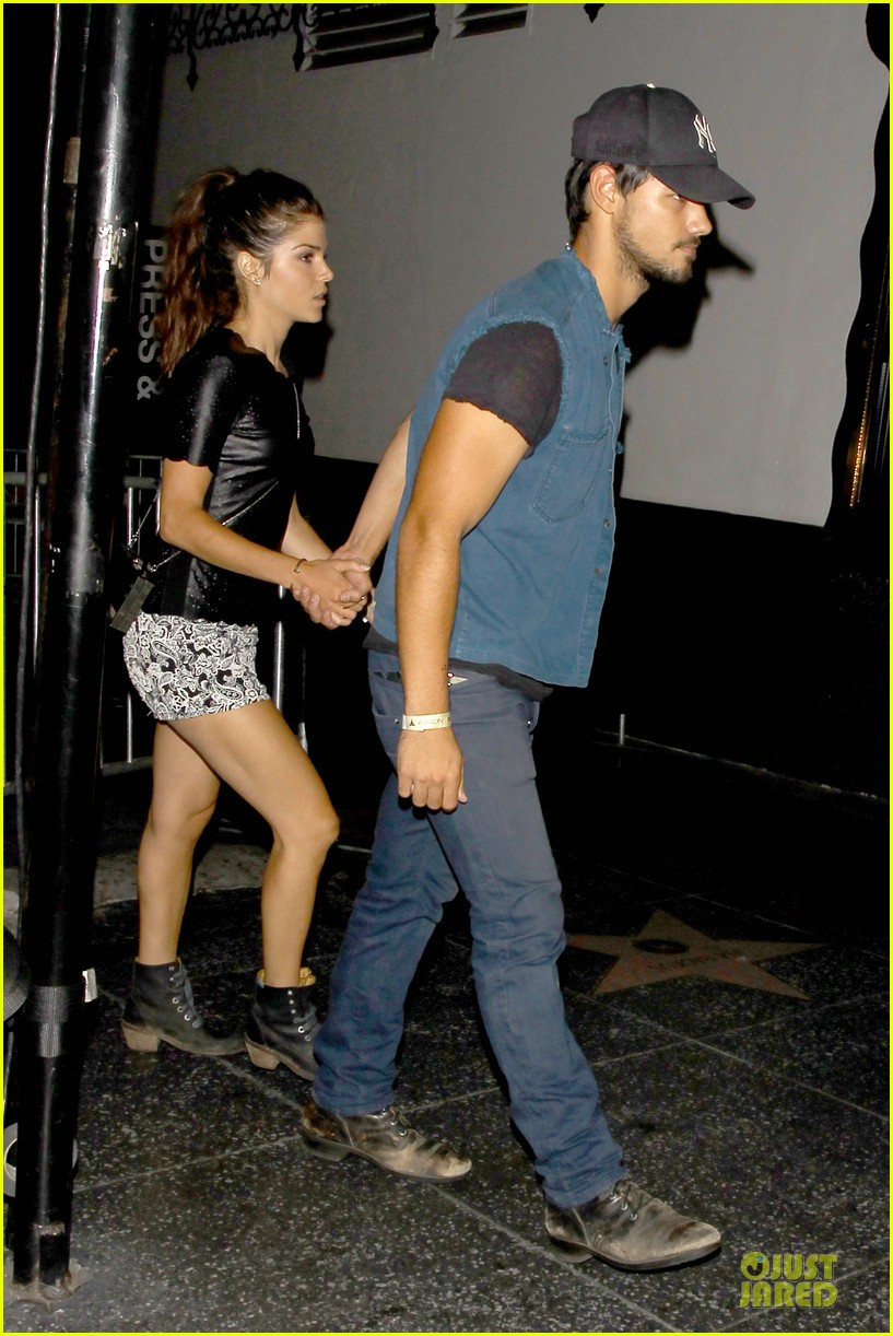 taylor lautner marie avgeropoulos strong hollywood 183181569