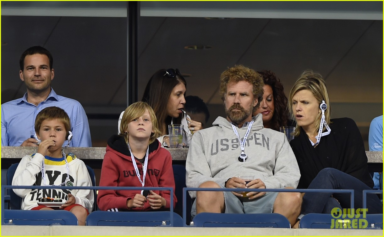 will ferrell busy beard family us open 14
