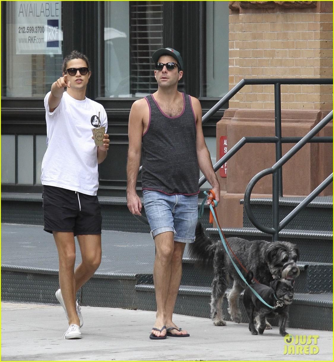 zachary quinto boyfriend miles mcmillan dog walk tribeca 04