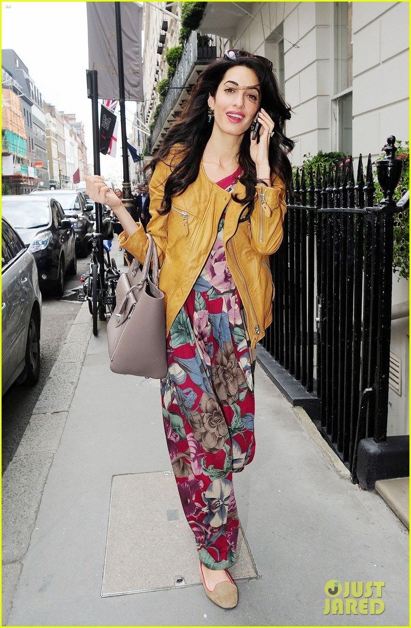 amal alamuddin goes for a fitting at alexander mcqueen 133189373