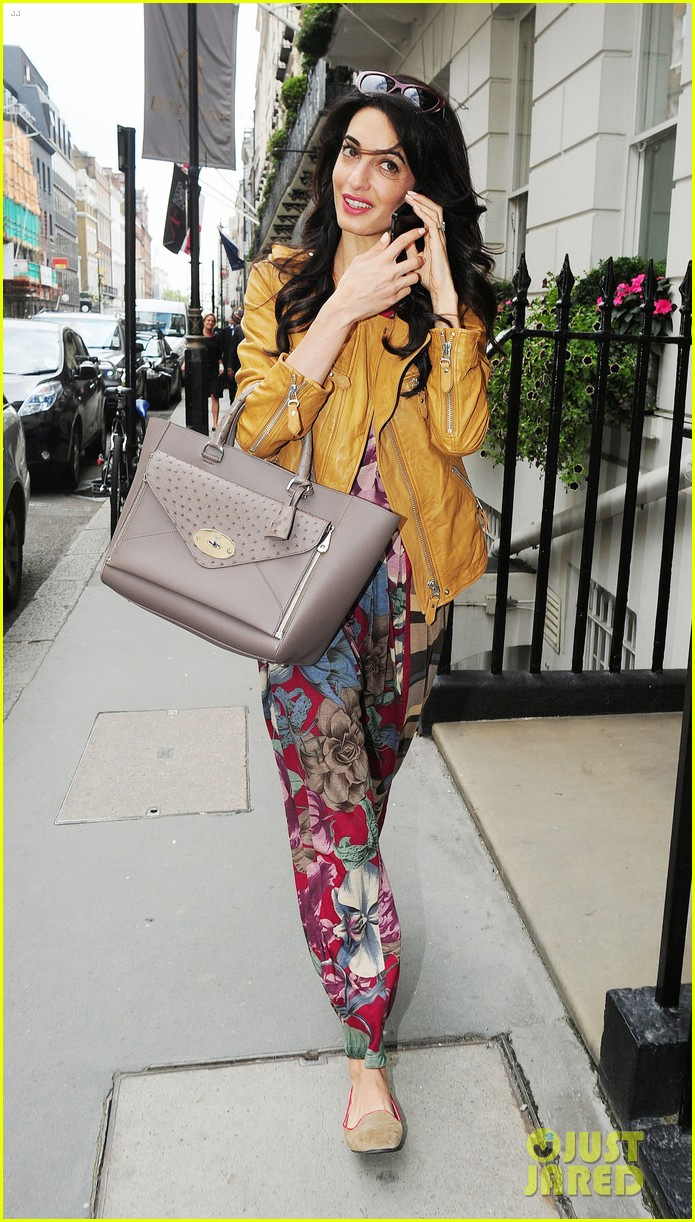 amal alamuddin goes for a fitting at alexander mcqueen 27