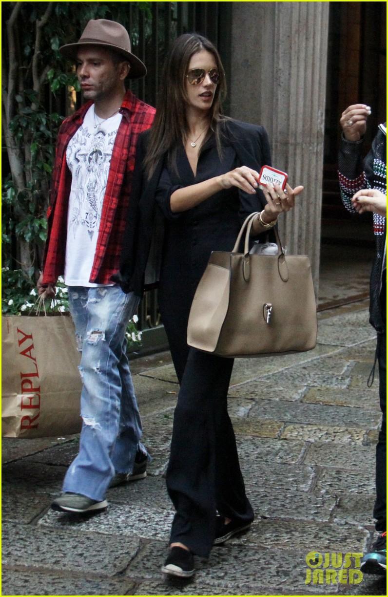 alessandra ambrosio fashion replay during milan fashion week 143201091