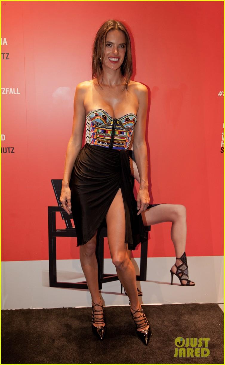 alessandra ambrosio displays her legs for days at schutz nyfw event 15