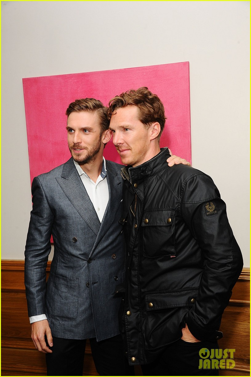 benedict cumberbatch supports dan stevens at the guest screening 113187553