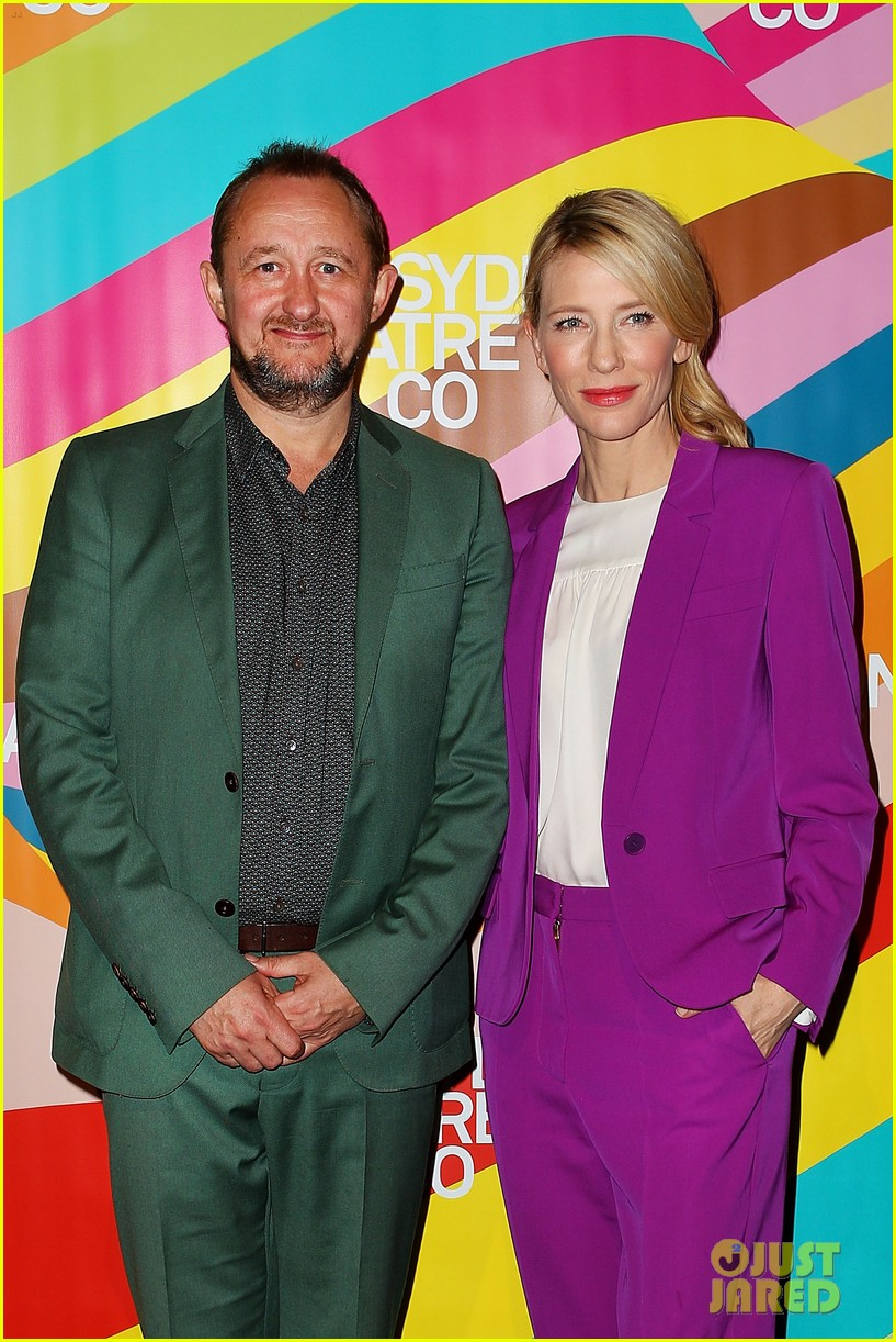 cate blanchett wears bright purple pantsuit sydney theater company 01