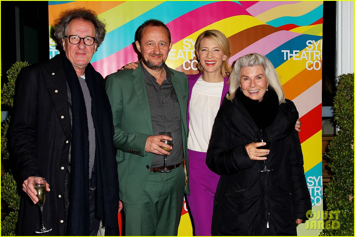 cate blanchett wears bright purple pantsuit sydney theater company 073189048