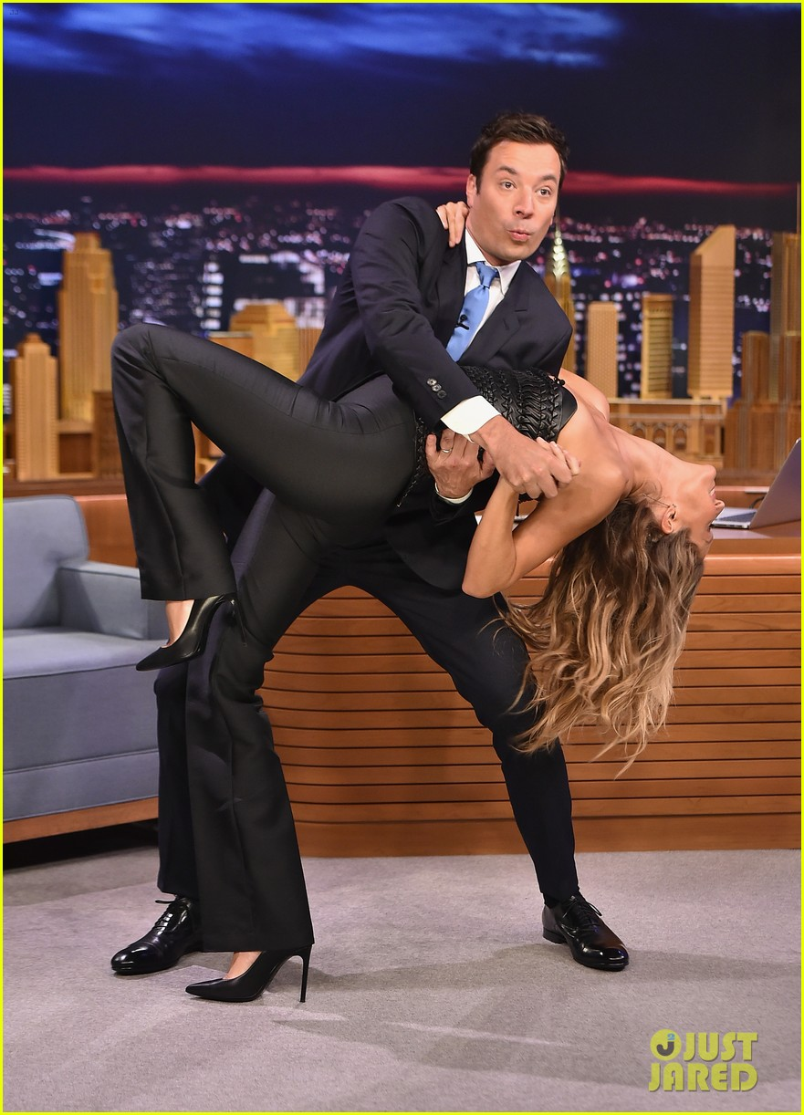 gisele bundchen shows off epic dance movies for fallon 01