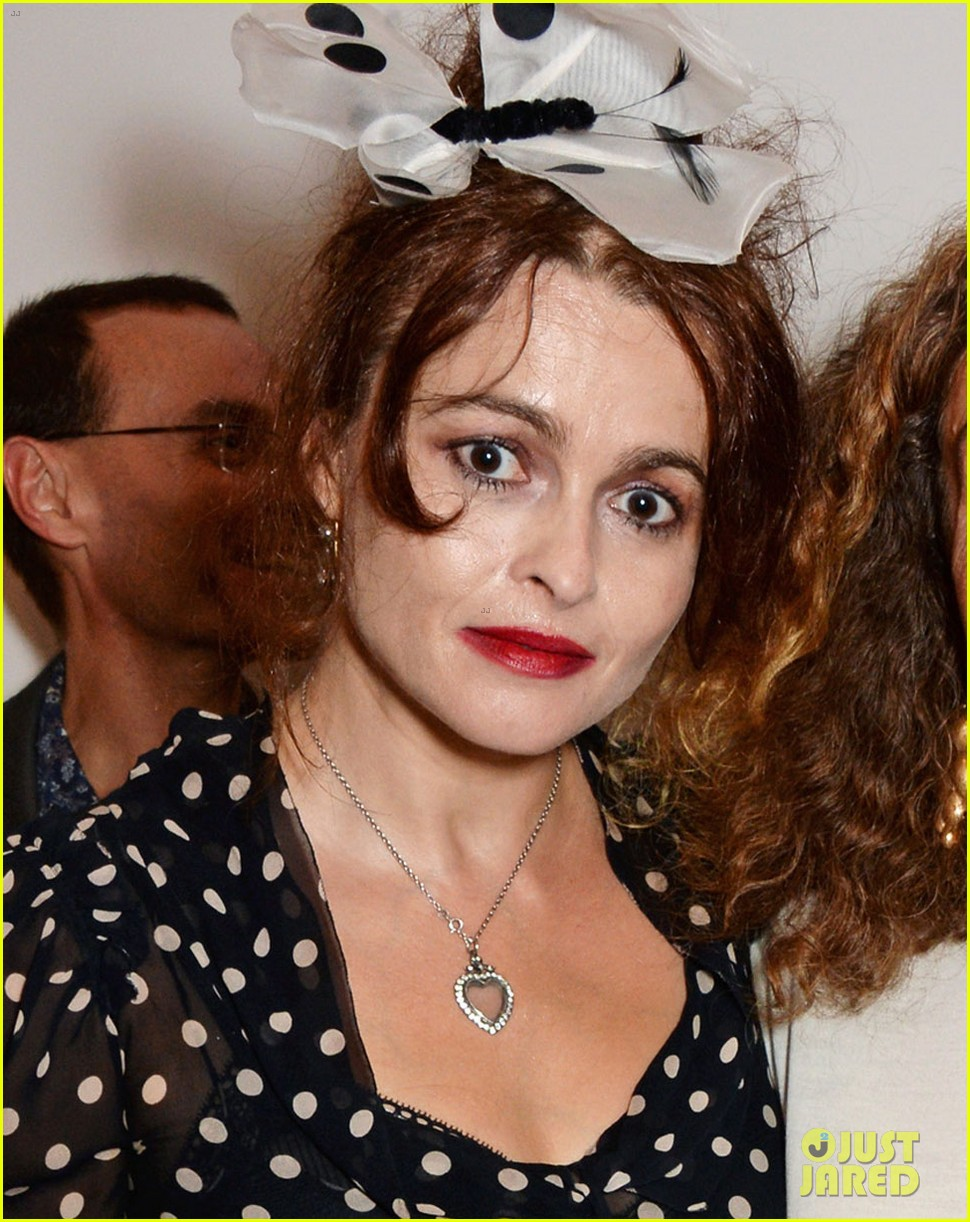 Full Sized Photo of helena bonham carter tries to lick a sculpture of ...
