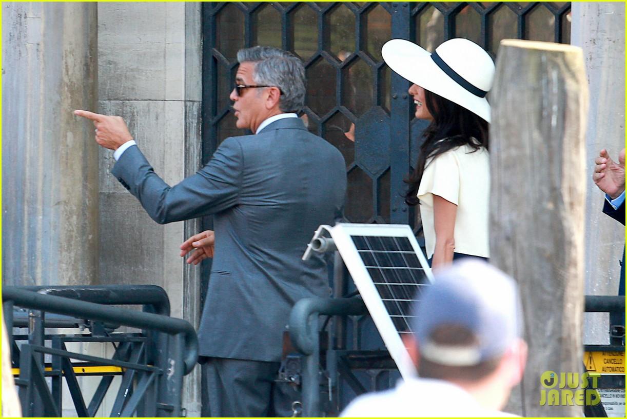 George Clooney & Wife Amal Alamuddin End Wedding Weekend ...