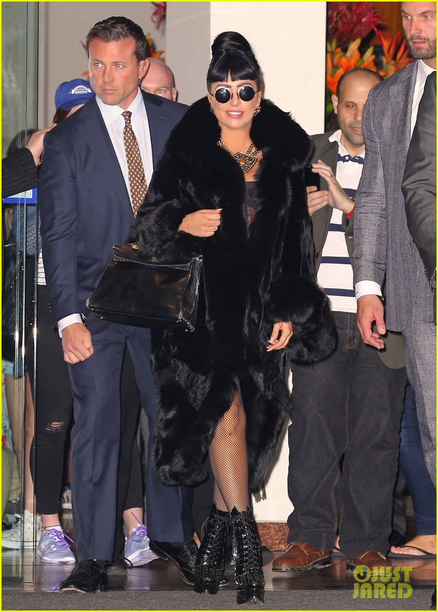 lady gaga reunites with pet pooch asia at lax airport 02