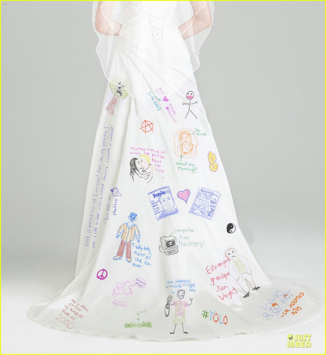 Angelina Jolies Wedding Dress Spoofed By Funny Or Die