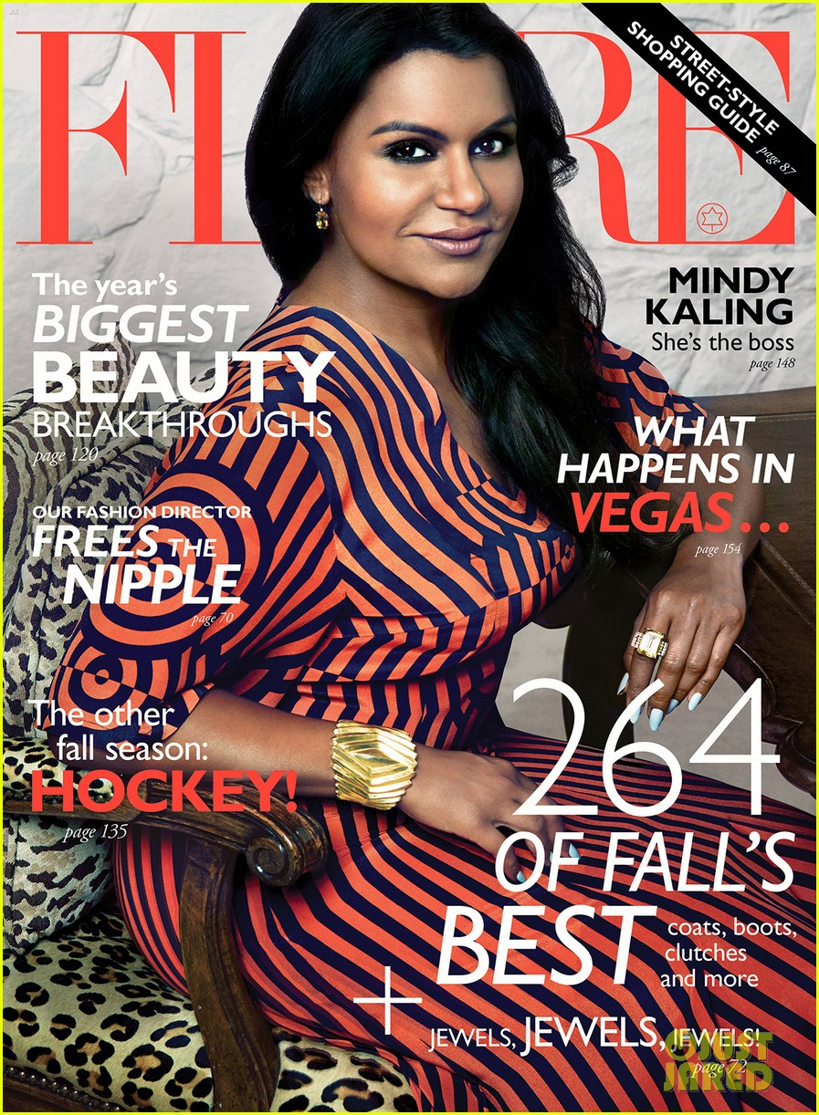 mindy kaling covers flare october 2014 exclusive pic 01
