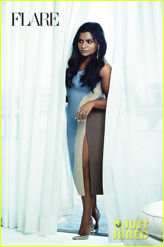mindy kaling covers flare october 2014 exclusive pic 05