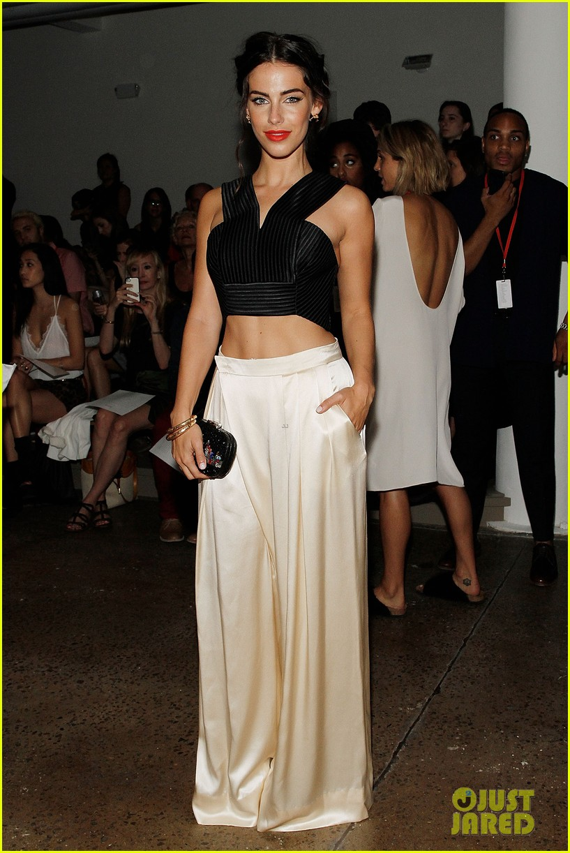 katie cassidy jessica lowndes houghton fashion show 2014 05