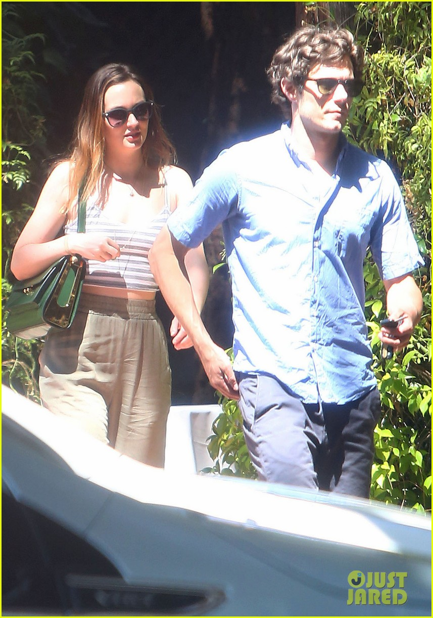 leighton meester adam brody share sweet embrace after lunch 13