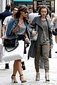 lily collins paris grey outfit 09