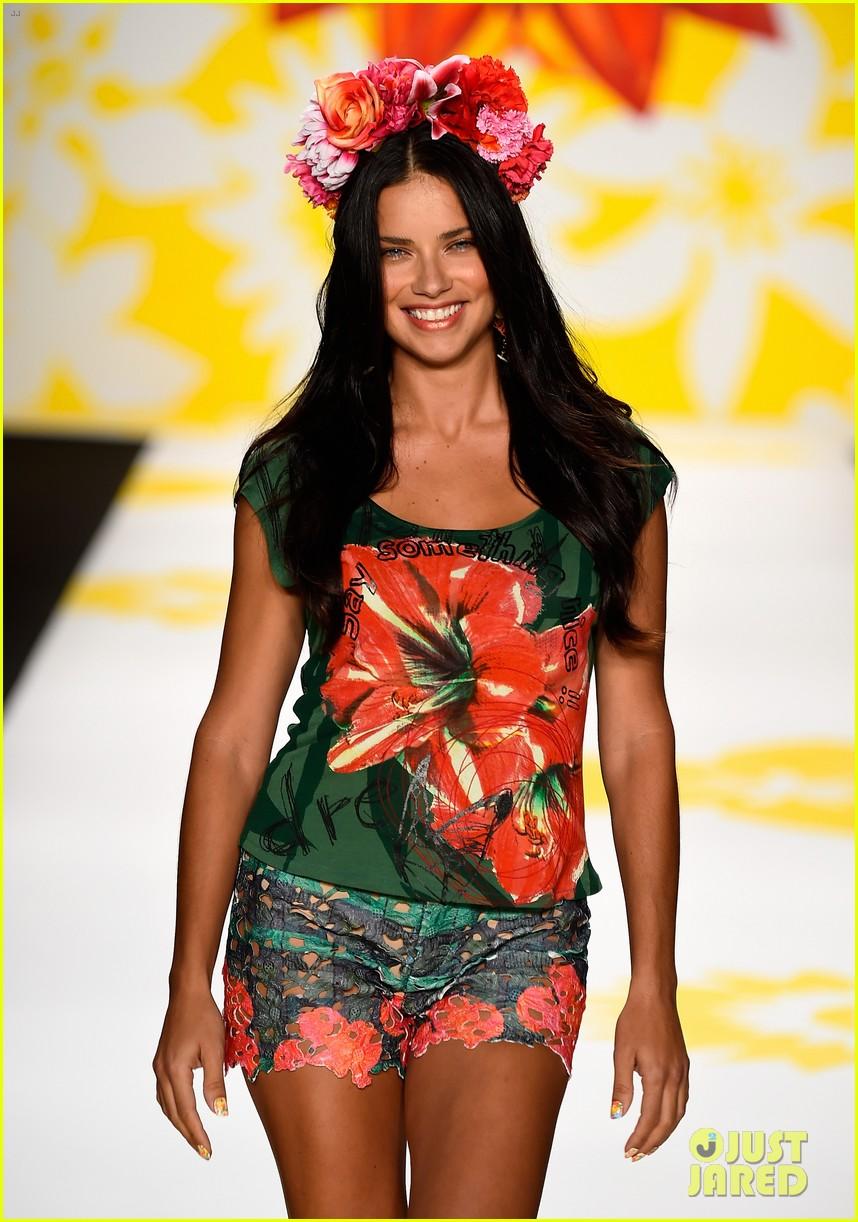 adriana lima walks the runway for desigual fashion show 063189472