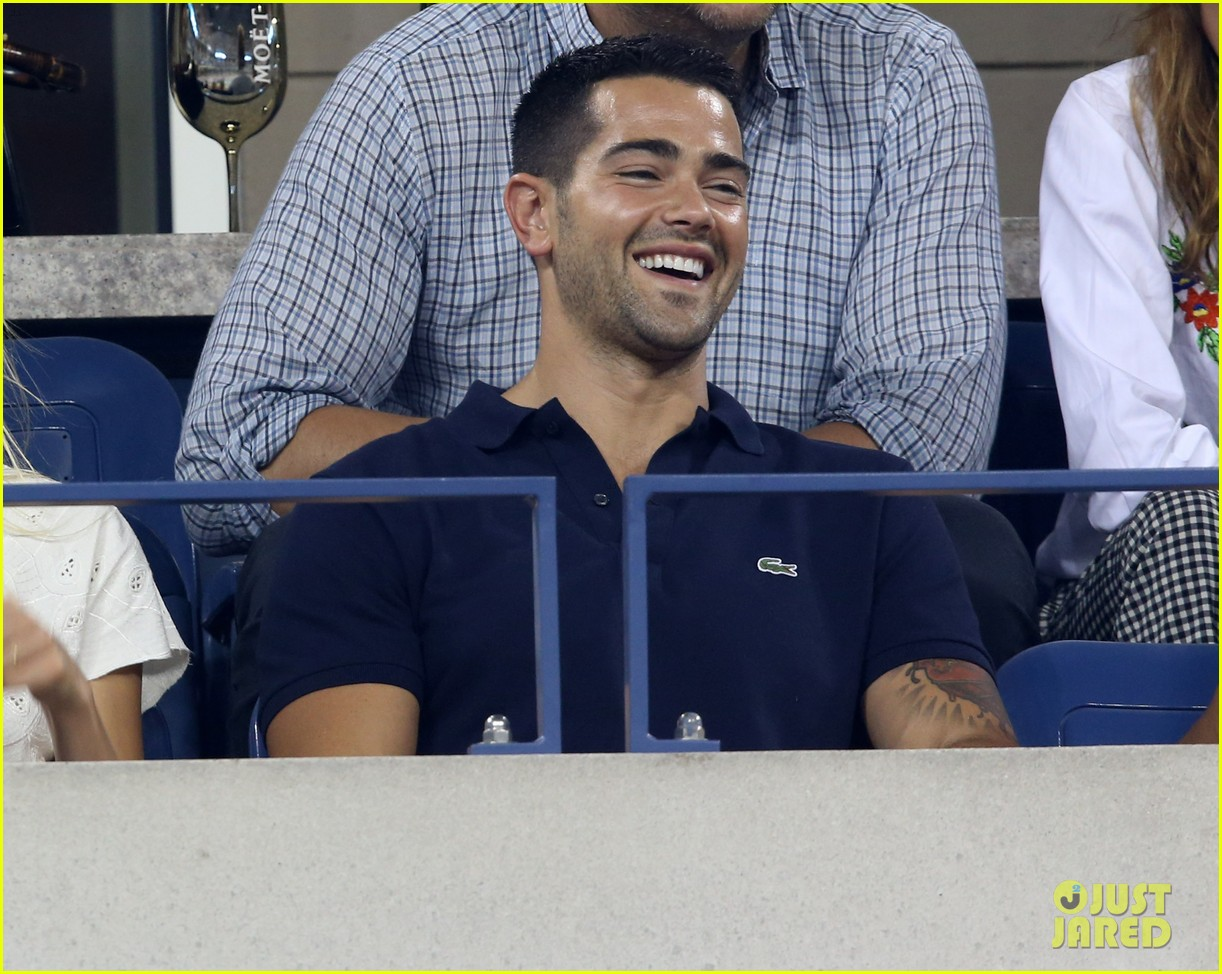 jesse metcalfe cara santana watch the us open with moet 093188904