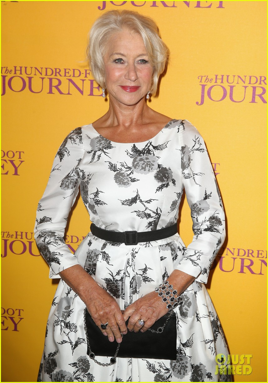 helen mirren joins co stars at hundred foot journey uk gala 03