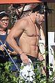 channing tatum goes swimming fully clothed shirtless joe manganiello 09