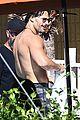 channing tatum goes swimming fully clothed shirtless joe manganiello 17
