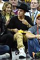 justin bieber usher hang out at lebron james home coming game 01