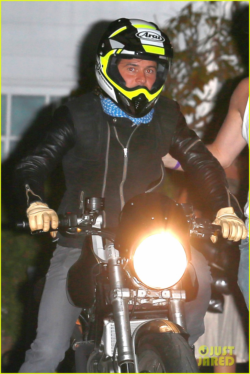 Orlando Bloom Revs Up His Motorcycle After Big Halloween Party ...