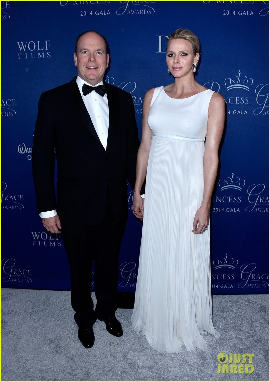 princess charlene hits the red carpet is pregnant with twins 043214415
