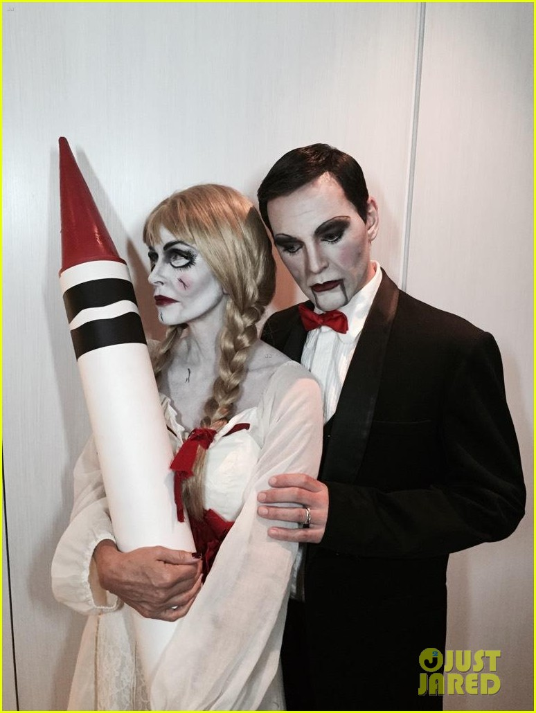 Courteney Cox Dolls Up as 'Annabelle' for Halloween with Fiance ...