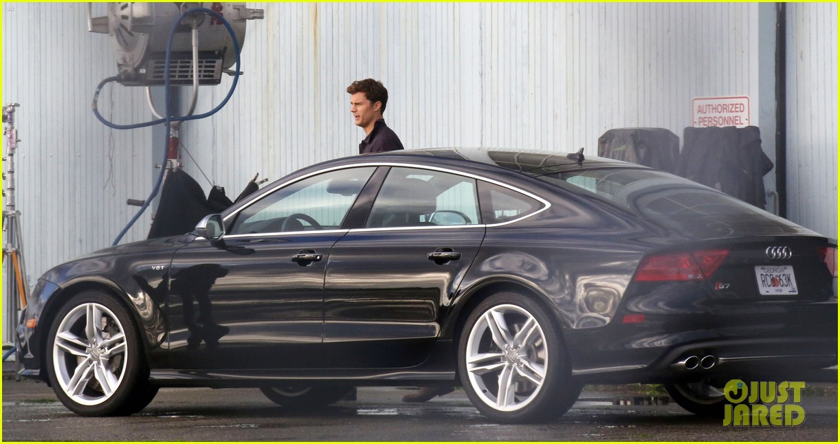 Jamie Dornan Dakota Johnson Reunite As Christian Anastasia To - Audi car in 50 shades of grey