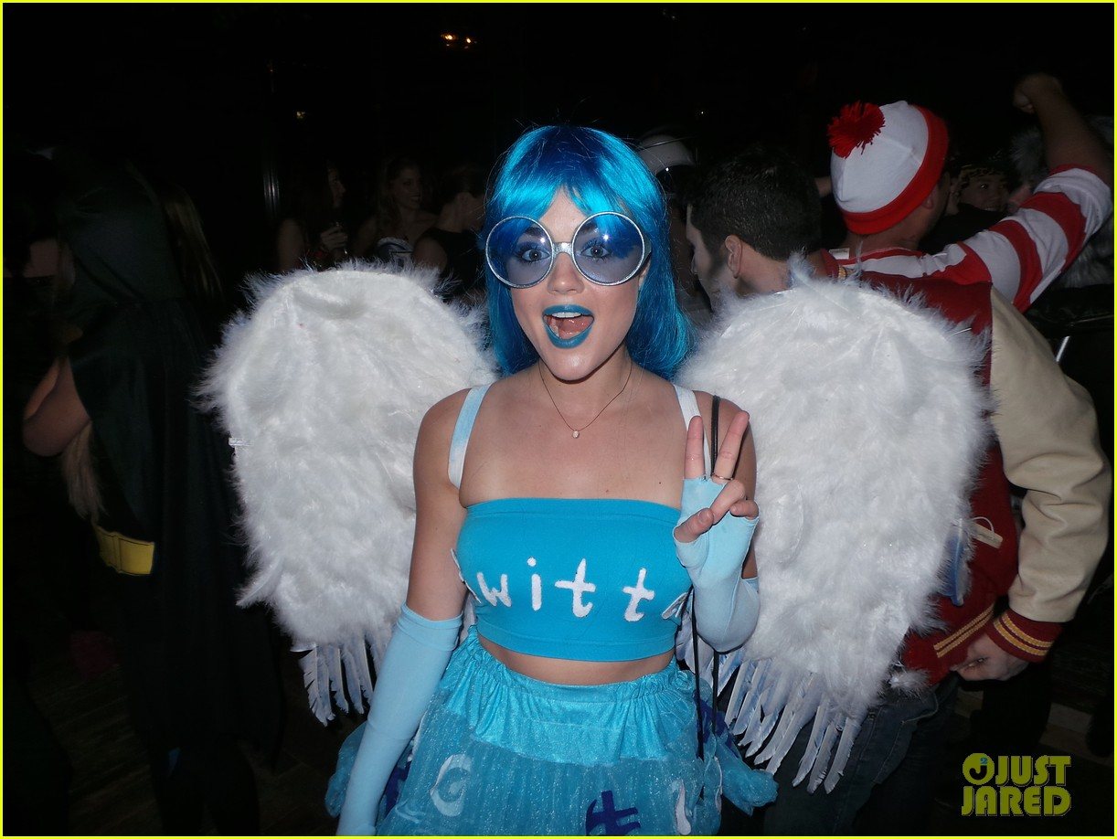 Colton Haynes & Lucy Hale Bring Their Costume A-Game to a Halloween ...