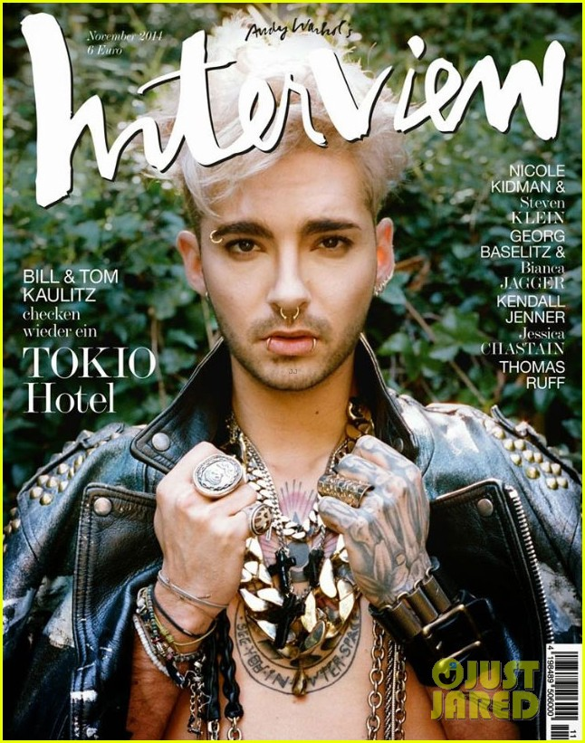 Image for tokio hotels bill kaulitz rocks leather for interview germany 02