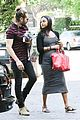 zoe saldana baby bump spotlight at brunch 12