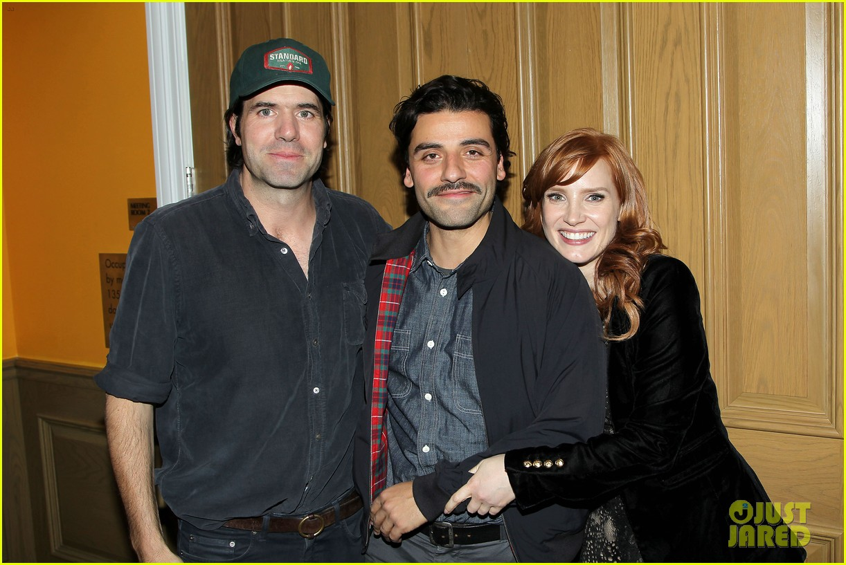 jessica chastain oscar isaac open up about bad auditions for a most violent year 063250186