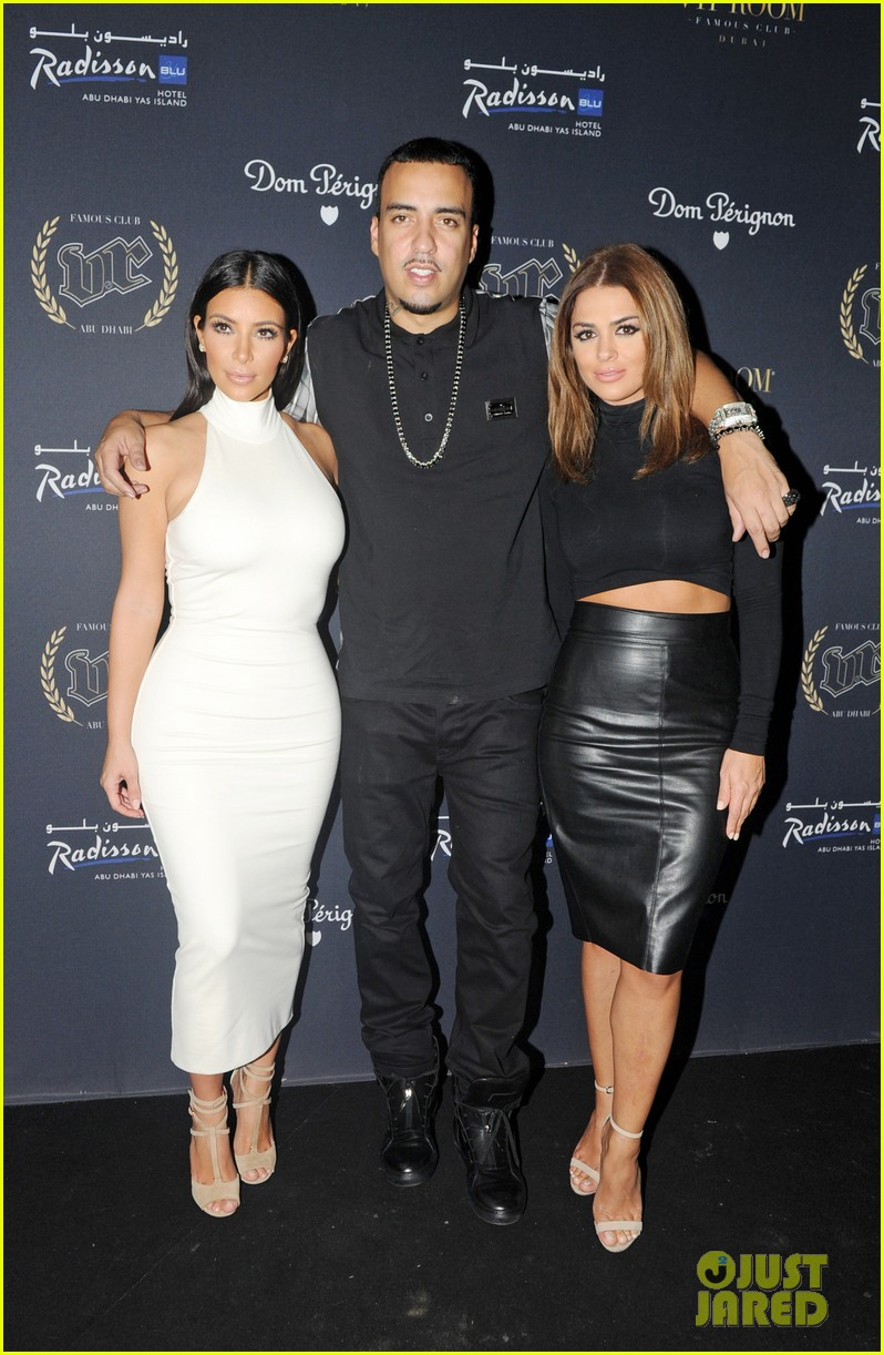 kim kardashian parties with french montana surprises the troops 193249035