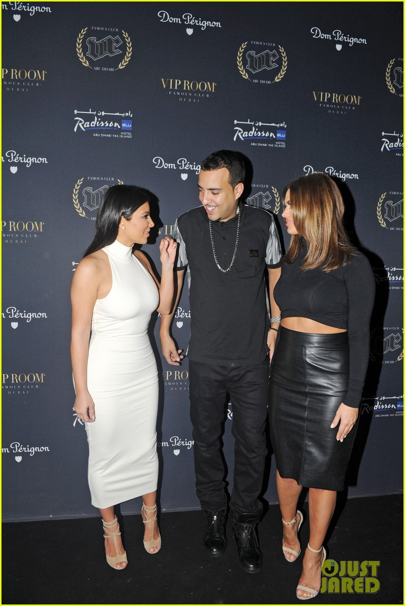 kim kardashian parties with french montana surprises the troops 203249036