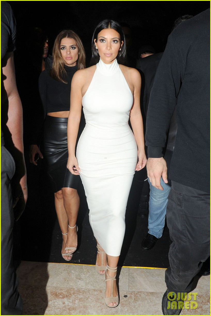 kim kardashian parties with french montana surprises the troops 233249039