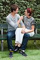 ansel elgort shailene woodley recreate bench poster tfios 04
