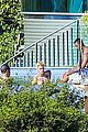 justin bieber goes shirtless at beverly hills mansion 02
