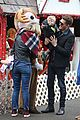 michael buble takes his son noah to a christmas theme park 24