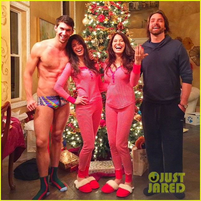 Naked Christmas Party Part - 15: Michael Phelps Goes Practically Naked To Pajama Party With Girlfriend  Nicole Johnson: Photo 3268403   2014 Christmas, Michael Phelps, Nicole  Johnson, ...