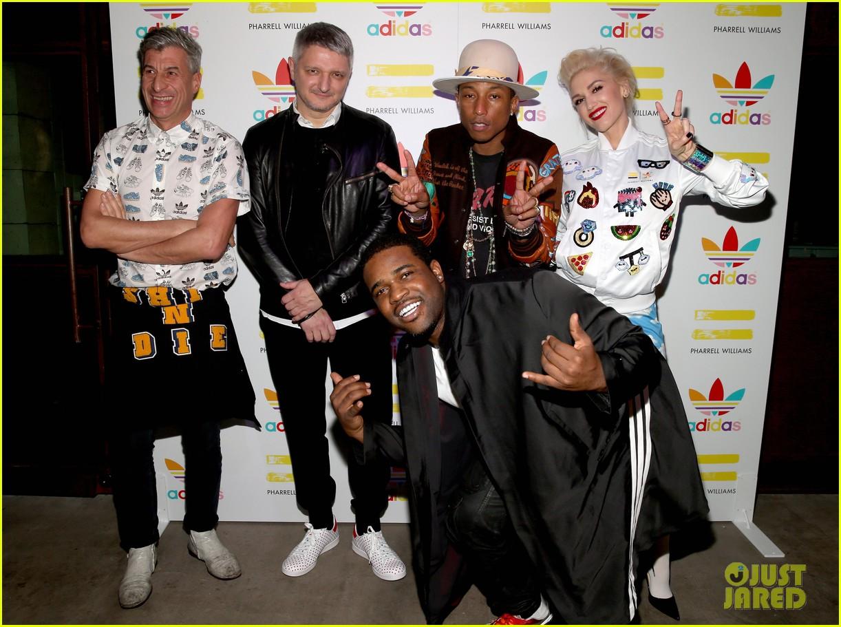 gwen stefani khloe kardashian help pharrell williams celebrate his new adidas 033254675